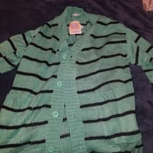 Lularoe Lucille Mint Green and Black sweater